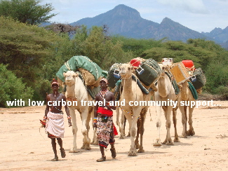 with low carbon travel and community support...