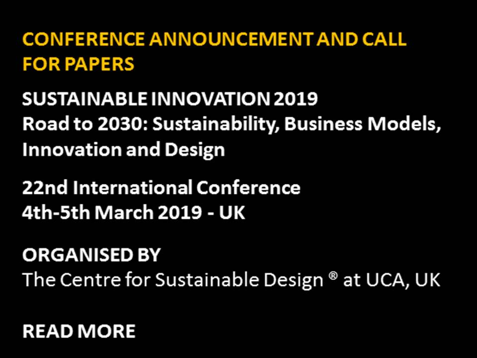 Sustainable Innovation 2019   Read more